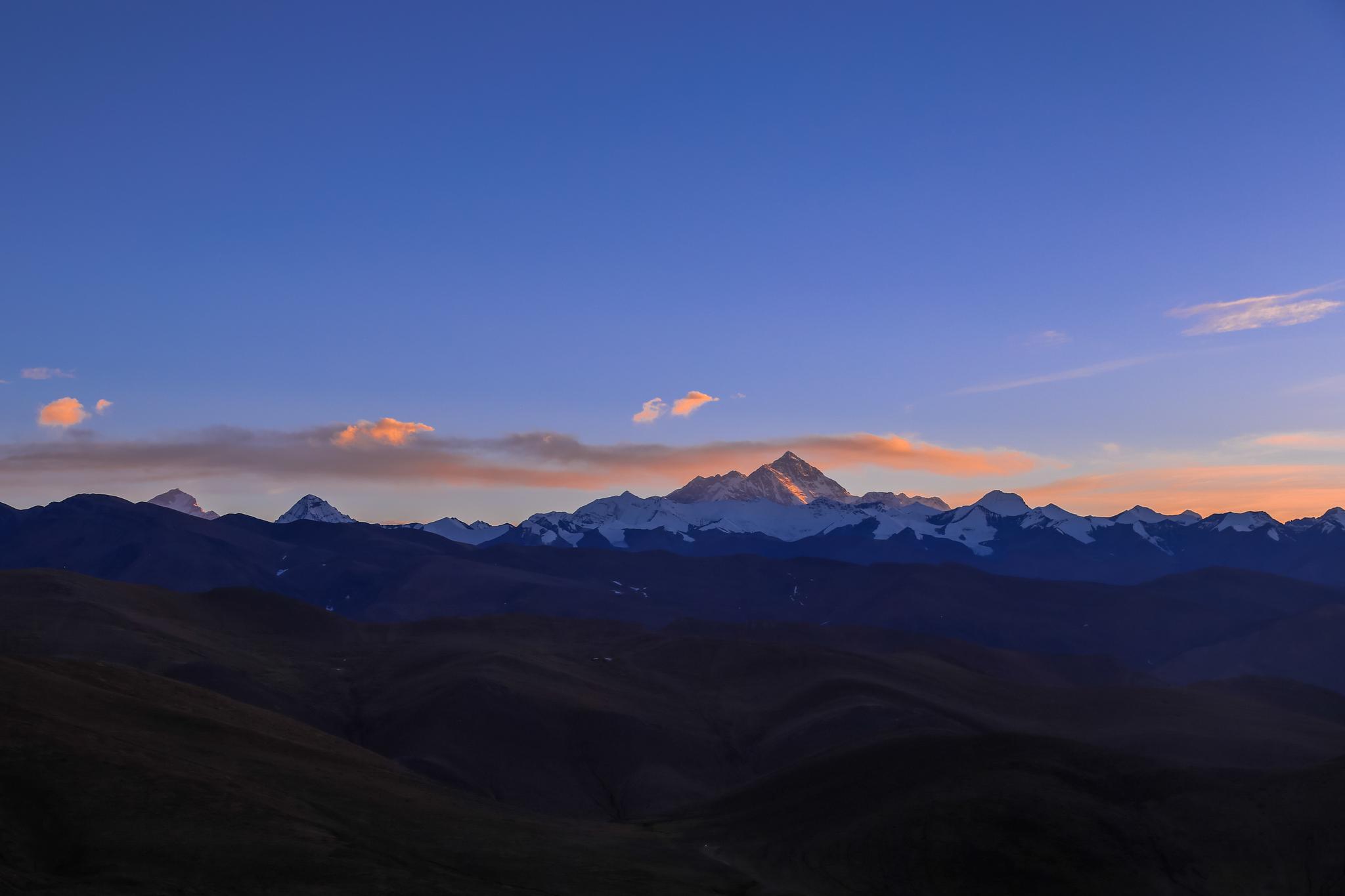 傍晚的珠穆朗玛峰