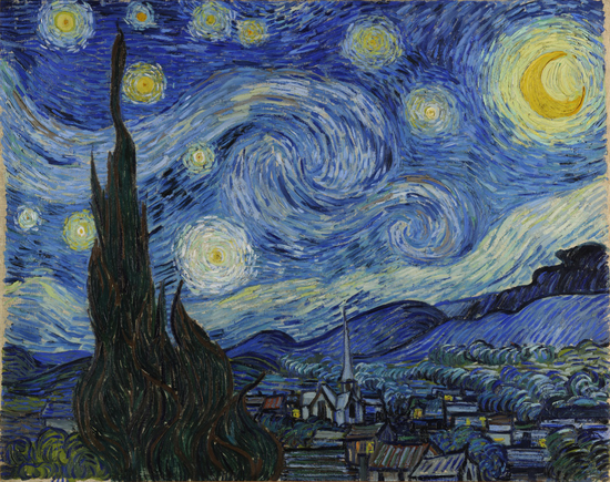 The Starry Night, June 1889. Museum of Modern Art, New York