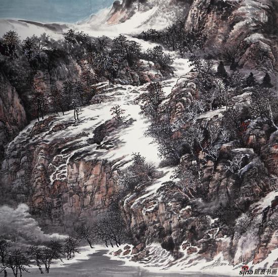 高原雪霁 188cm×188cm 2016