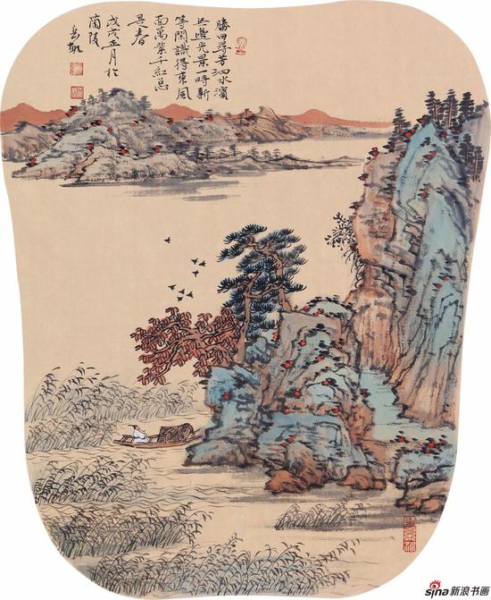胜日寻芳泗水滨 50cm×40cm 2018