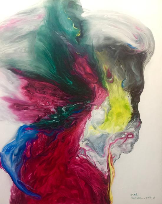 田林 《生如夏花》 100x80cm 布面油画 2018年