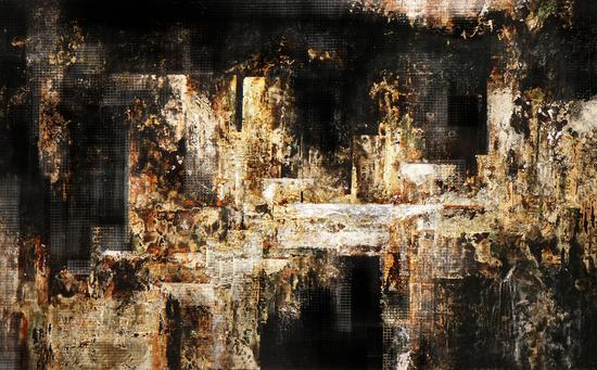 马俊营 《都市建构系列——天问》 120×75cm 综合材料 2009年