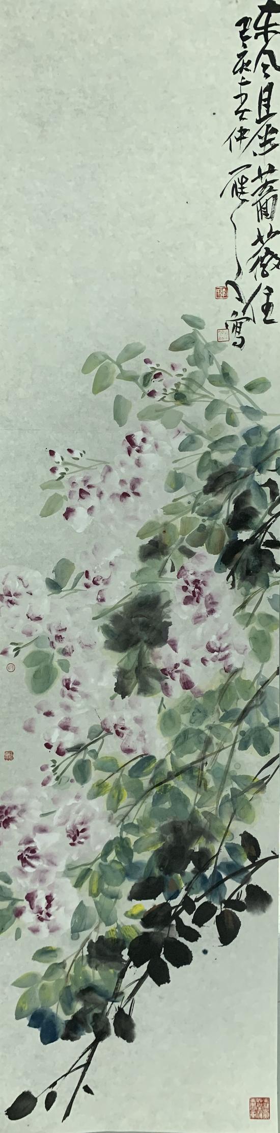 作品名称:《东风且半蔷薇住》