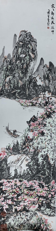 作品名称:《家家都在花丛中》