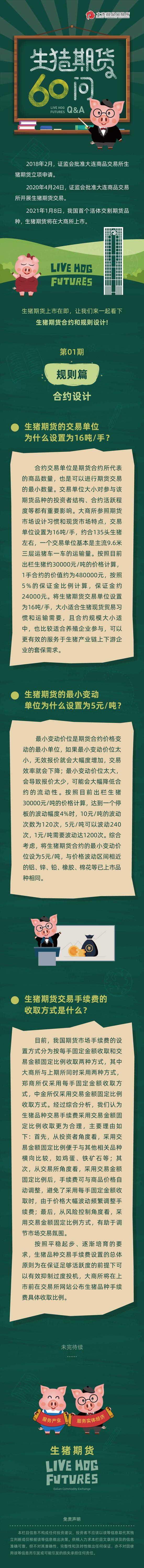 【生猪期货60问】规则篇:合约设计