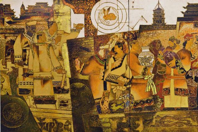 第一回全国美展获奖漆画家作品联展作品集——陈立德