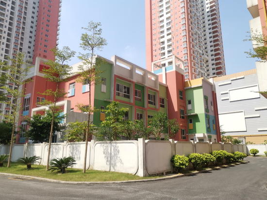 南宁市高坡岭人才公寓配备的幼儿园。新浪广西 黄媛/摄