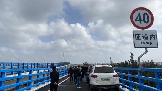 图为海文大桥北港岛匝道。洪坚鹏 摄
