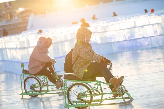 冰上自行车