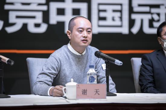 上海久事智慧体育有限公司赛事总经理谢天