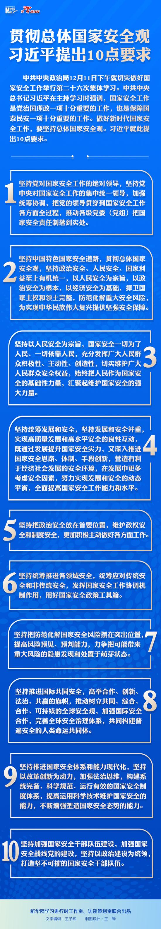 贯彻总体国家安全观 习近平提出10点要求图片