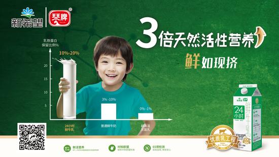 (新希望琴牌乳业优质乳明星产品—24小时鲜牛乳)