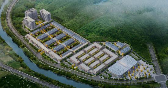 陽城?蘇州智慧產業園規劃鳥瞰圖
