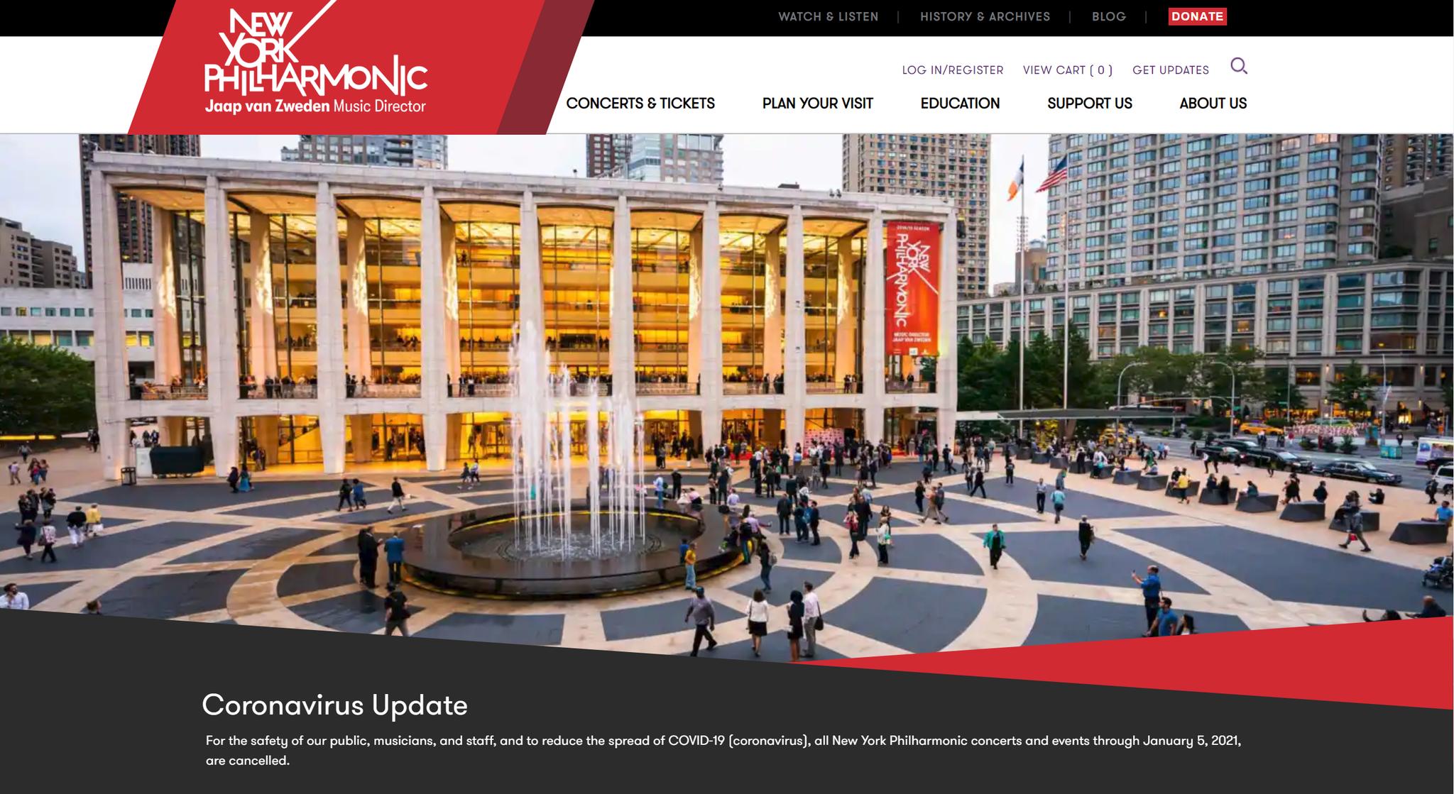 纽约爱乐乐团宣布取消2020年所有演出图片