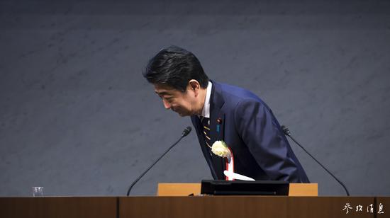 日本首相安倍晋三 图片来源:视觉中国