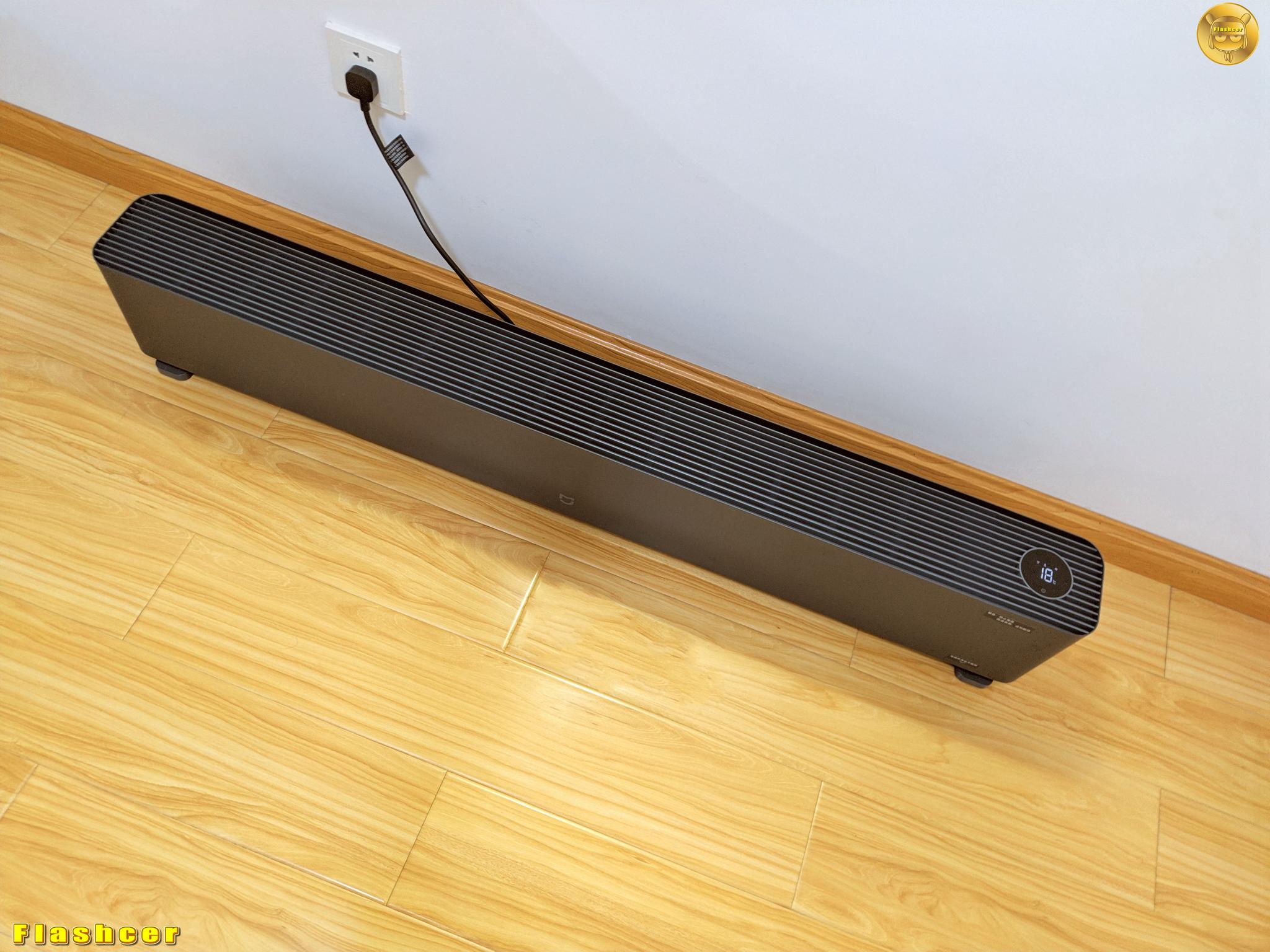 米家踢脚线电暖器1S,提升节能和暖流加速,悄无声息地温暖全屋